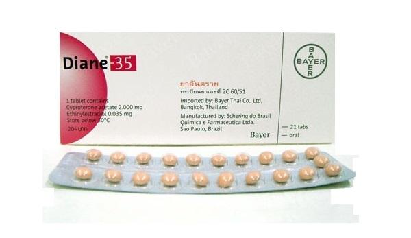 35 de anticonceptivas secundarios diane efectos pastillas