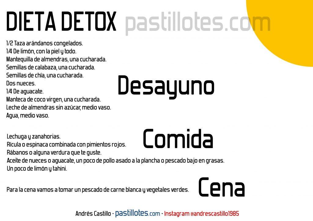 dieta detox menu